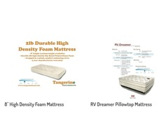 Made in Canada RV Bed Replacement and RV Mattresses by Tangerine Foam