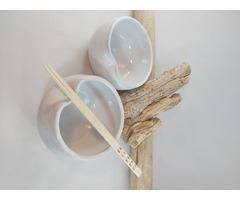 White Chopstick Bowl