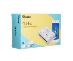 SONOFF® 4CH R2 4 Channel 10A 2200W 2.4Ghz Smart Home WIFI Wireless Switch APP Remote Control AC 90V-
