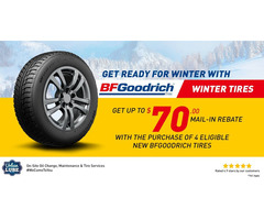 Get up to $70 Back by mail on BFGoodrich Tire