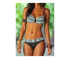 Polyester Pattern Bikinis Swimwear (30015543946)