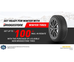 Get up to $100 Back by mail on Bridgestone Winter Tire