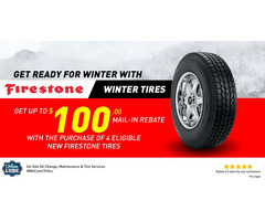 Get up to $100 Back by mail on Firestone Winter Tire
