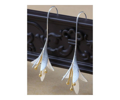 Casual Floral No Stone Dangle Earrings (1855524279)