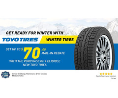 Get up to $70 Back by mail on Toyo Winter Tire