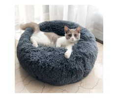 Multicolor Cat/Dog Pet Bed Super Soft Warm Round Depth Super Cute Kennel