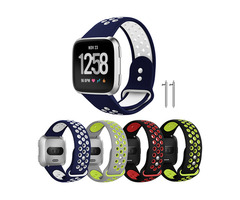 KALOAD Silicone Smart Watch Replacement Band Breathable Bracelet Strap Belt For Fitbit Versa Smart W