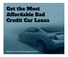Get the Most Affordable Bad Credit Car Loans.