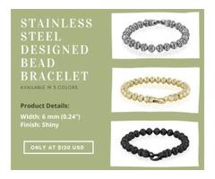 Stainless Steel Designed Bead Bracelet