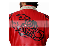 Happy Christmas| Sting Scorpion Red Leather Coat WWE Wrestlers Jacket