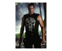 Happy Christmas| Frank Castle The Punisher Black Leather Skull Jacket