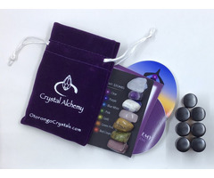 7 Chakra Alchemy Stone Meditation Kit with OILS - 1 Kit