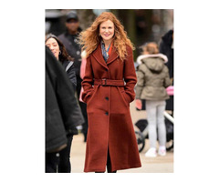 Nicole Kidman Brown Wool Coat