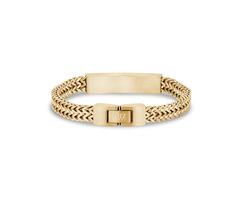 Double Franco Link Matte Steel ID Bracelet