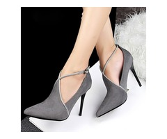 Closed Toe Stiletto Heel Shoes (1625109695)