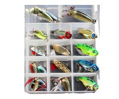 ZANLURE 21pcs/set Metal Spoon Lures Fishing Lure Set VIB Sea Fish Bass Baits Crankbait Swimbait