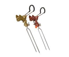 LEO Aluminum Alloy Fishing Rod Holder Adjustable Handle Fishing Pole Support Stand Metal Ground