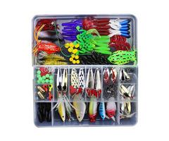 ZANLURE 141pcs/set Fishing Lure Kit Hooks Crankbait Plastic Worms Jigs Artificial Baits With Box