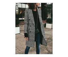 Long Sleeve Lapel Buttons Coats (1715348709)
