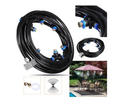 8M Outdoor Mist Coolant System Water Sprinkler Garden Patio Mister Cooling Spray Kits