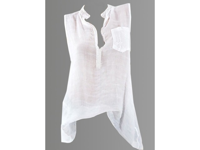 Solid Casual Stand Collar Sleeveless Blouses (1645281260) | free-classifieds-canada.com