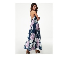 Floral Sleeveless Maxi X-line Dress (1955147090)