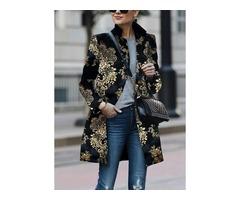 Long Sleeve Collar Coats (1715370170)