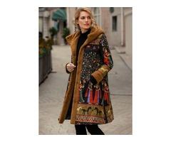 Long Sleeve Hooded Pockets Padded Coats (1715371230)