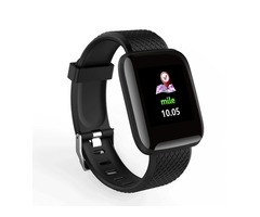 Bakeey D13 1.3 Inch Color Screen Touch Wristband HR Blood Pressure Monitor Visible Message Show Smar