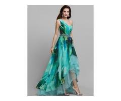 Color Block Sleeveless Maxi X-line Dress (1955375401)