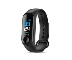 Bakeey M3 Waterproof Heart Rate Blood Pressure Monitor Camera Control USB Charging Smart Watch