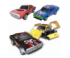1PC BURST Crush Rebuilt Racing Car Multi-pattern Pullback Collision Function Elegant Model Assembled