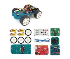 4WD Wireless IR Remote Control Smart Car Arduino Kit for ATmega328P UNO R3 with IR Controller/UNO