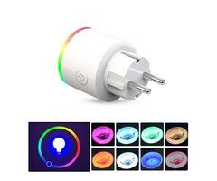 XS-SSA12 AC100-250V 16A EU Electricity Statistics RGB Scene Light Smart Wifi Socket Mobile Phone Tim