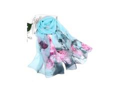 Polyester Floral Scarves (1775296276)