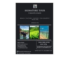 Signature Tour – Scenic Tours Sri Lanka (5 Nights 6 Days)