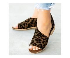 Peep Toe Low Heel Shoes (1625382152)