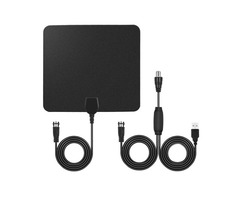 75Ohm USB Indoor Digital TV Antenna 50 Miles Range Signal 1080P Amplified HDTV