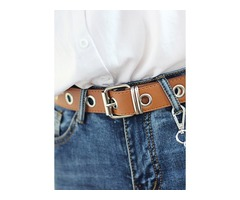 Casual Metal Solid Belts (1795382817)