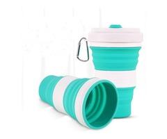 IPRee® 350ml Silicone Folding Cup Portable Telescopic Water Drinking Bottle Coffee Mug