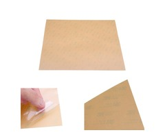 300*300*0.3mm Polyetherimide PEI Sheet for 3D Printer Heated Bed Amber Color with 3M Glue