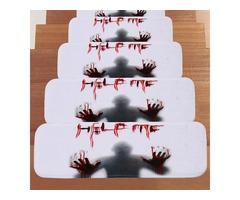 66.5*23cm Halloween Design Stair Pad Anti-Slip Carpet Kitchen Bathroom Floor Mat