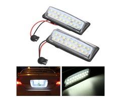 Pair LED Car License Plate Lights 12V White for Nissan J31 Maxima J32 Cefiro Murano
