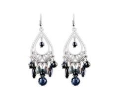 Ball Gemstone Dangle Earrings (1855394322)