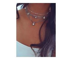 Water Drop No Stone Pendant Necklaces (1845396975)
