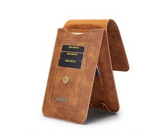 Men Faux Leather Phone Holder For 5.2 Inch Or 6.5 Inch Phone