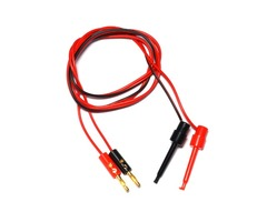 Lantianrc 4mm Banana Plug to Copper Dual Test Hook Clip Cable Lead Wire 100cm for RC Drone