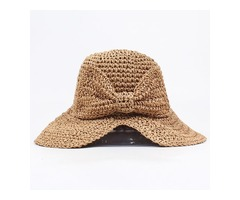 Casual Bow Solid Hats (1835400911)