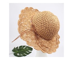Casual Hollow Out Solid Hats (1835400934)
