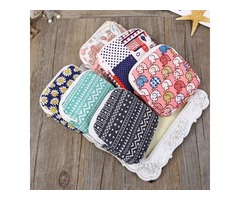 Cute Women Sanitary Napkins Bag Menstrual Pads Carrying Easy Bag Small Articles Gather Pouch Case Pu